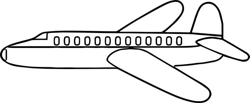 Airplane Side Coloring Page