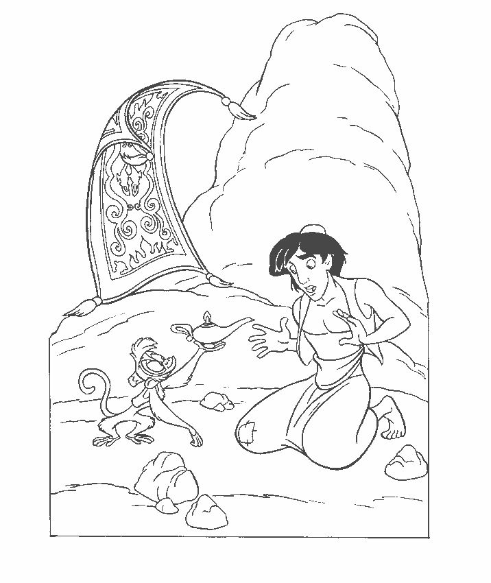 Aladdin Coloring Pages To Print