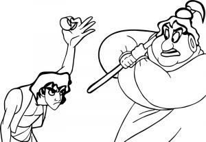 Aladdin hand painted coloring page