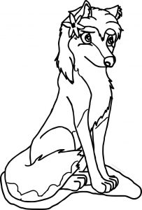 Aleu alpha and omega wolf coloring page