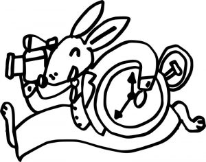 Alice in the wonderland mouse coloring page