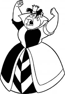Alice in the wonderland woman power coloring page