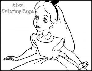 Alice in wonderland coloring page 02