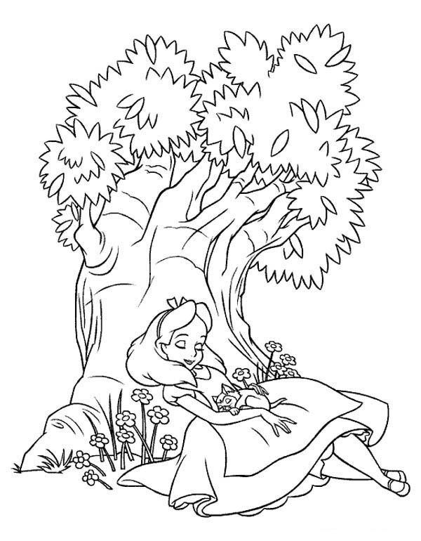Alice In Wonderland Coloring Pages To Print