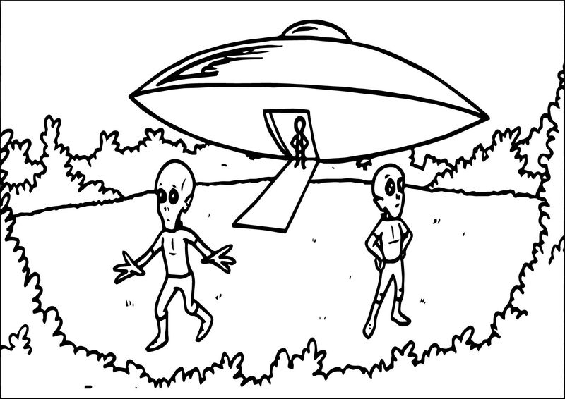 Alien In The Word Coloring Page