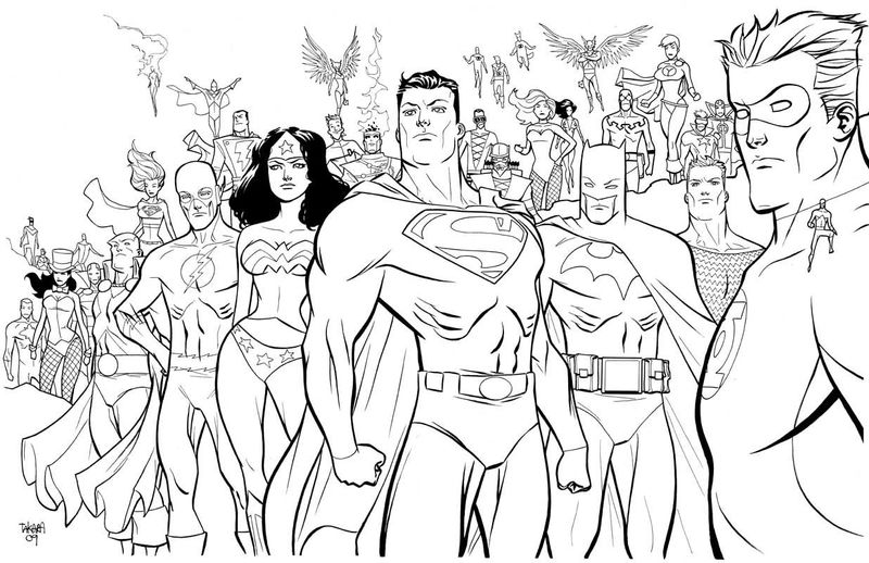 All Dc Superhero Characters Coloring Page