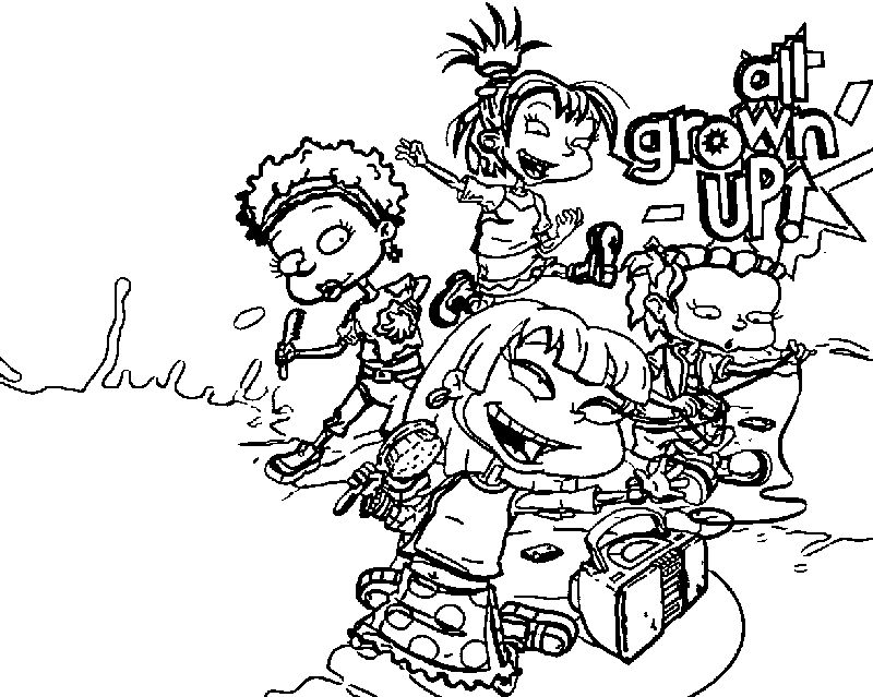 All Grown Up Girls Wallpaper Coloring Page