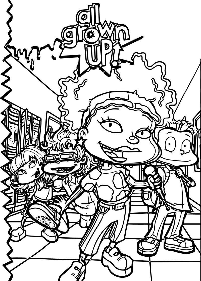 All Grown Up President School Coloring Page