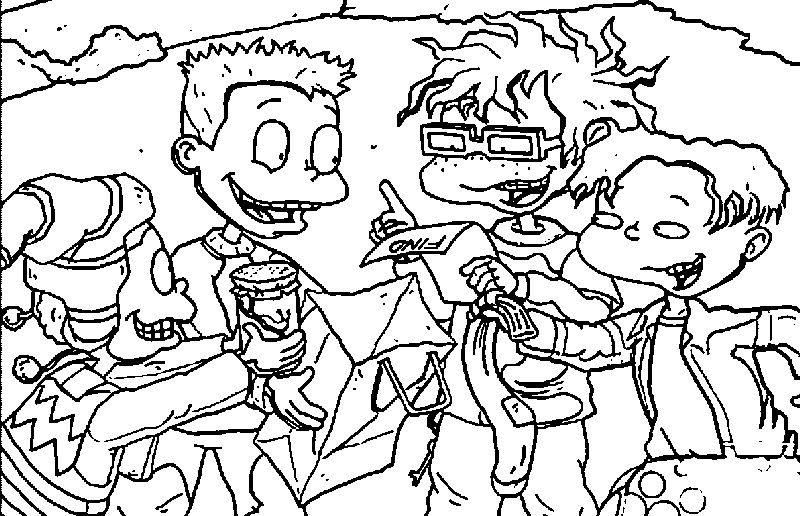 All Grown Up The Scavenger Hunt Book Coloring Page