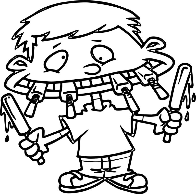 All Kids Comic Ice Cream Coloring Page