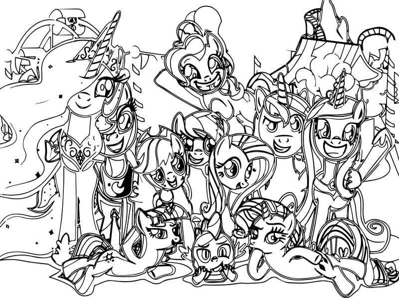 All My Little Pony Coloring Page