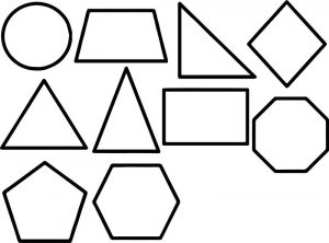 All shape coloring page
