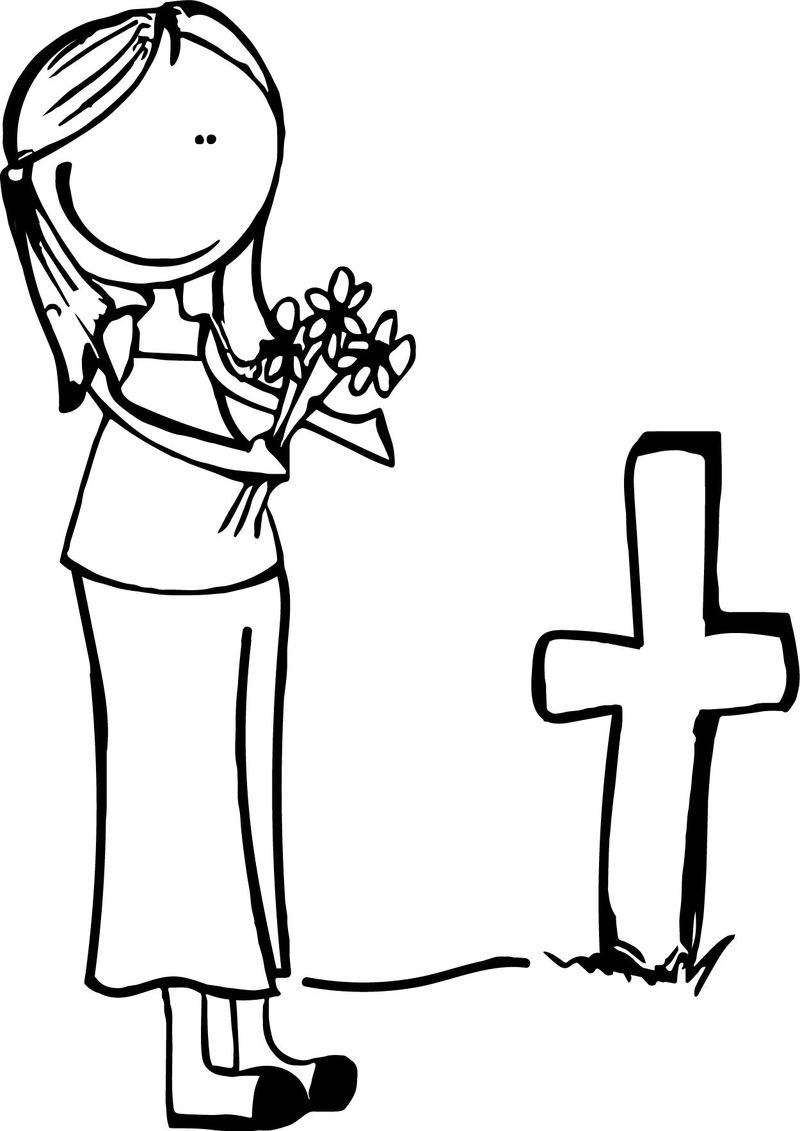 All Souls Day Coloring Page