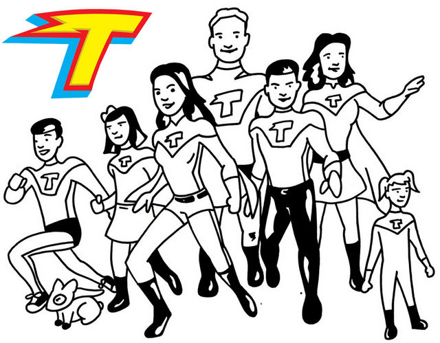 All Thundermans Characters Coloring Page