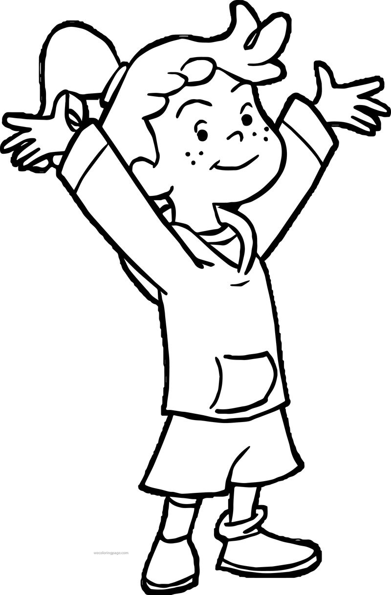 Allie Whoops Girl Coloring Page