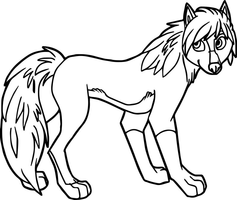 Alpha And Omega Wolf Girl Coloring Page
