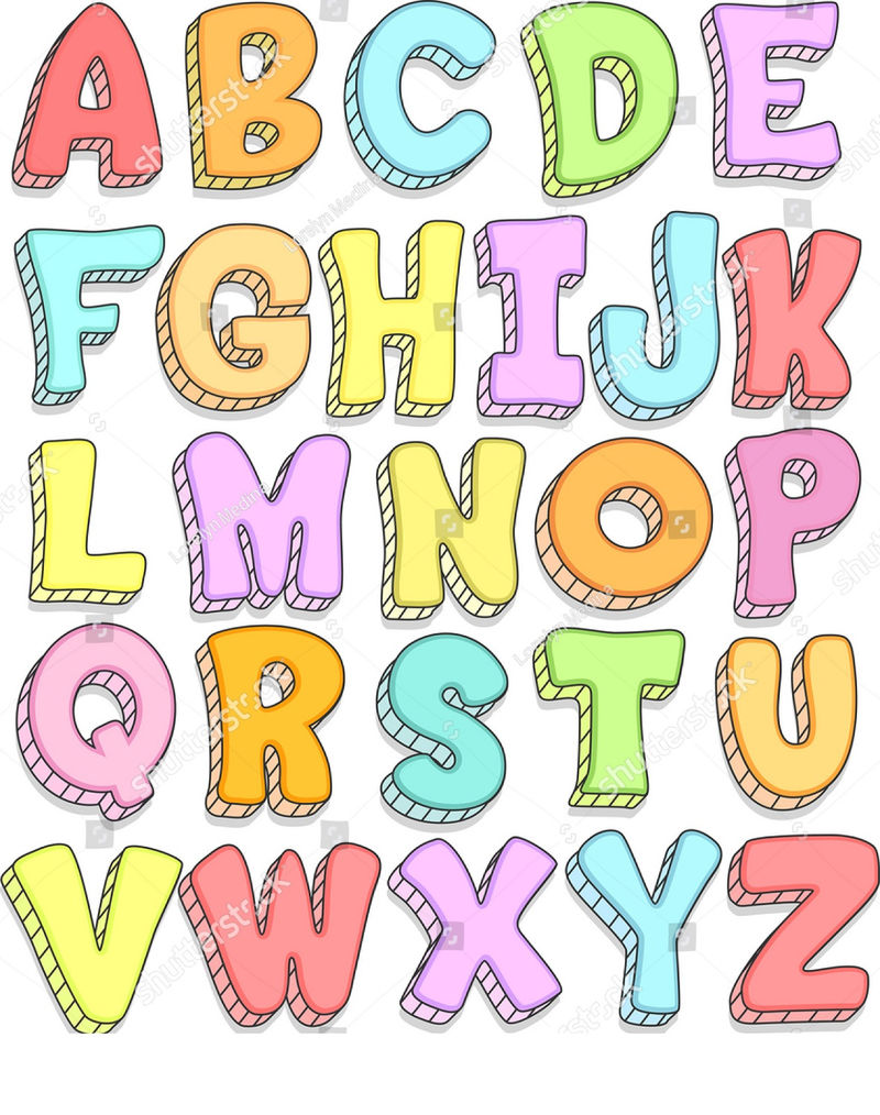 Alphabet capital letters for kids