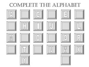Alphabet letter worksheets missing
