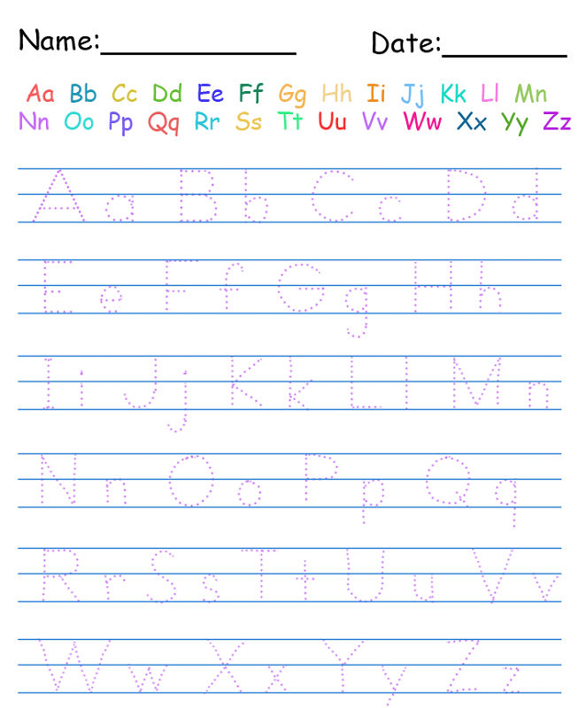 Alphabet Practice Worksheets Kindergarten