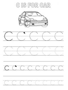 Alphabet tracing pages c 001