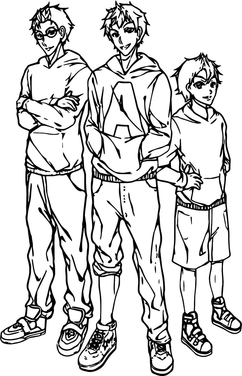 Alvin And Chipmunks Basketball Team Coloring Page