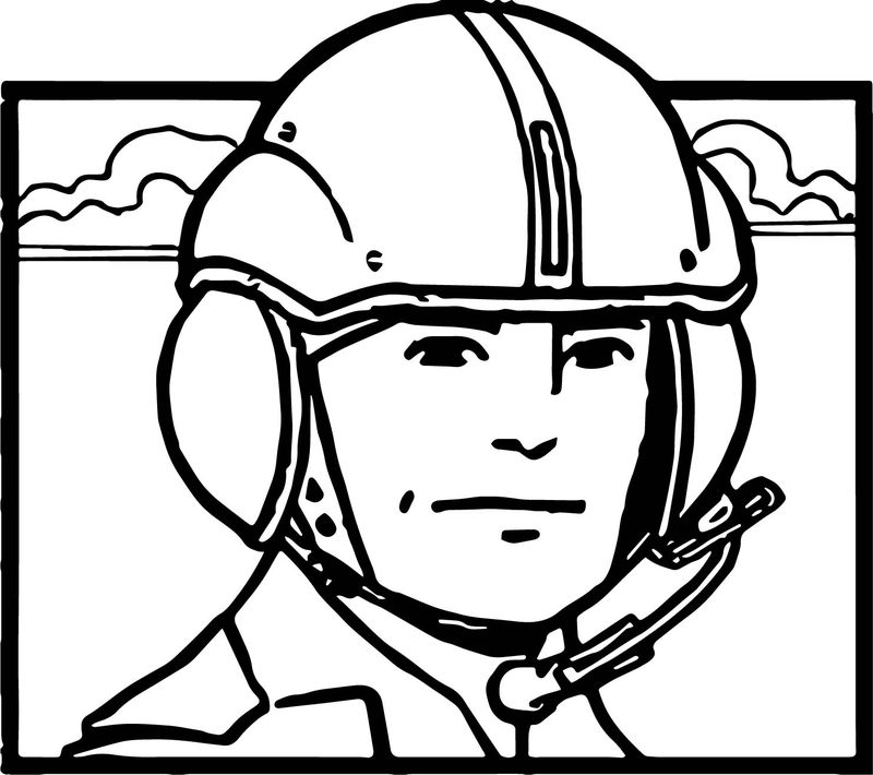 Amazing Realistic Pilot Face Flyer Coloring Page