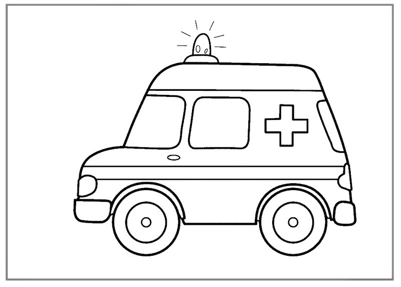Ambulance Free Coloring Pages 01 Noticeable Colouring