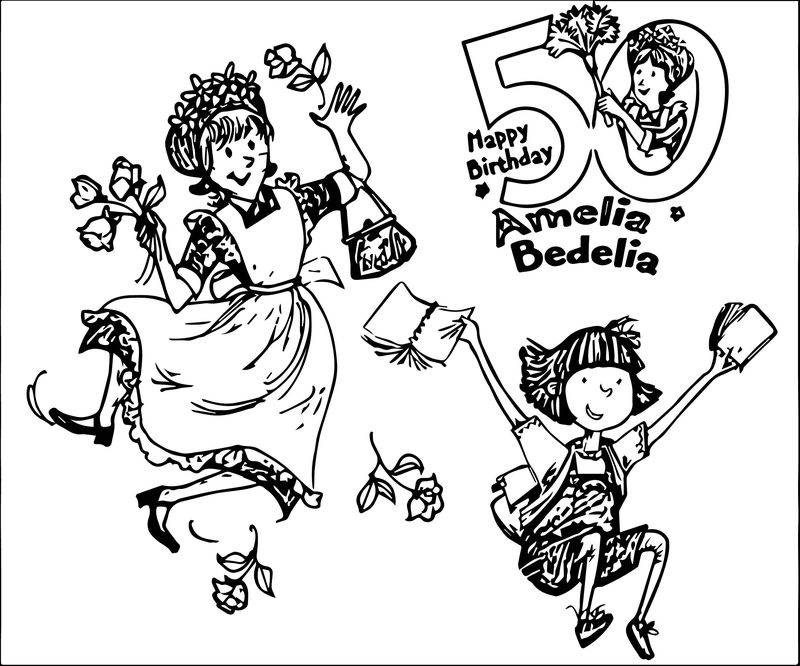 Amelia Bedelia Happy Birthday Coloring Page
