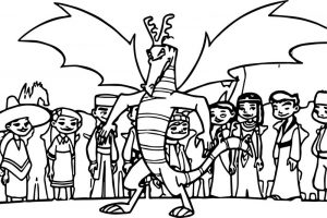 American dragon jake long and all kids coloring page