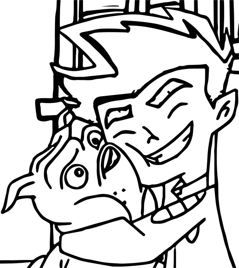 American Dragon Jake Long And Dog Coloring Page