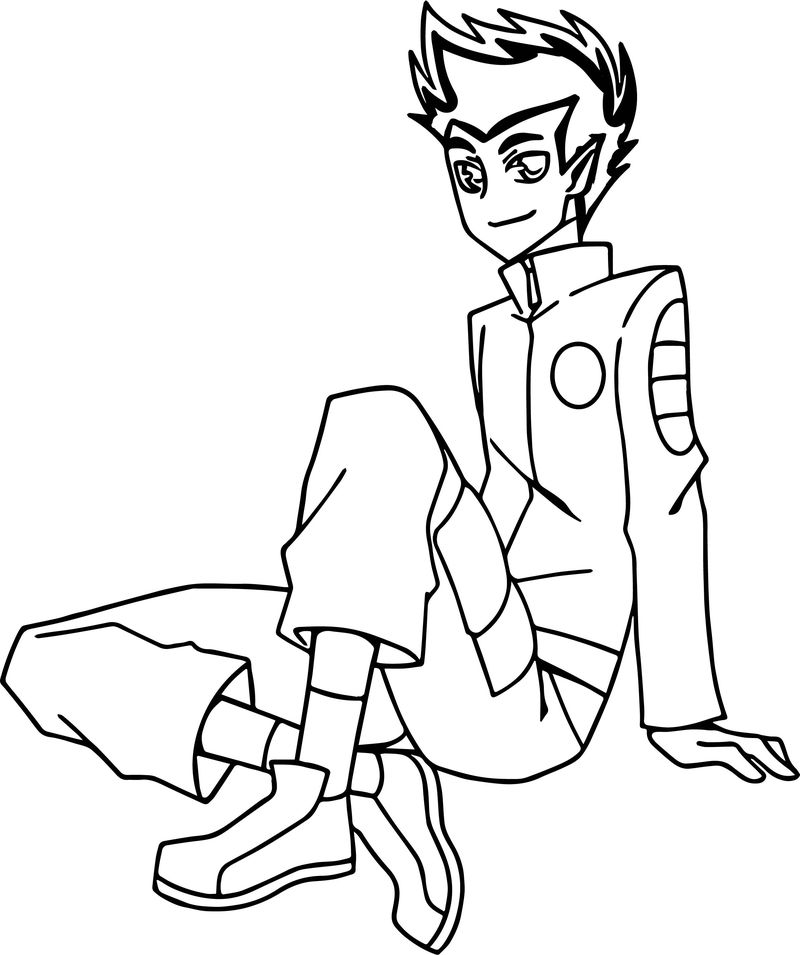 American Dragon Jake Long Manga Coloring Page
