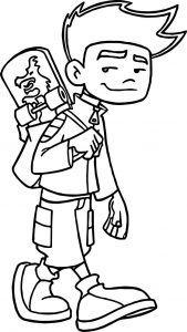 American dragon jake long walk with skate coloring page