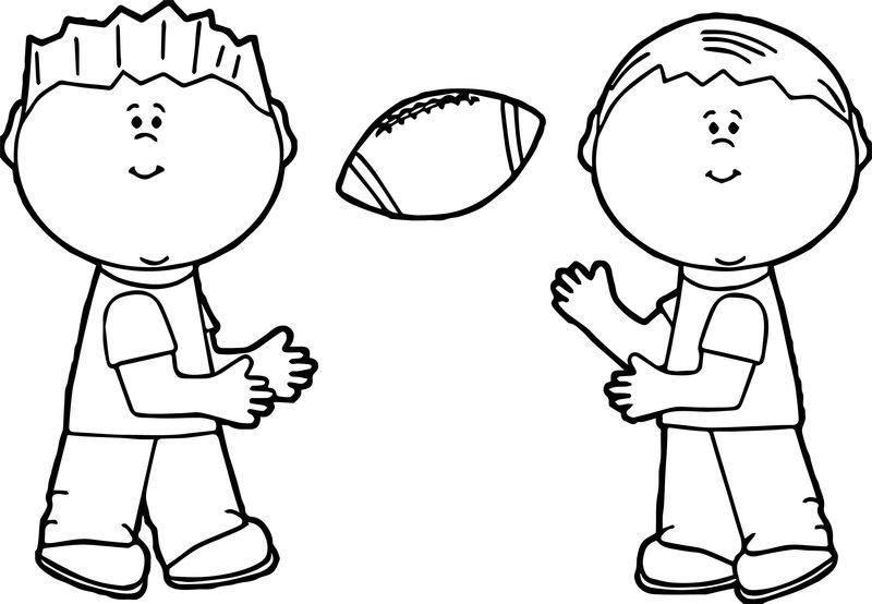 American Football Boys Coloring Page