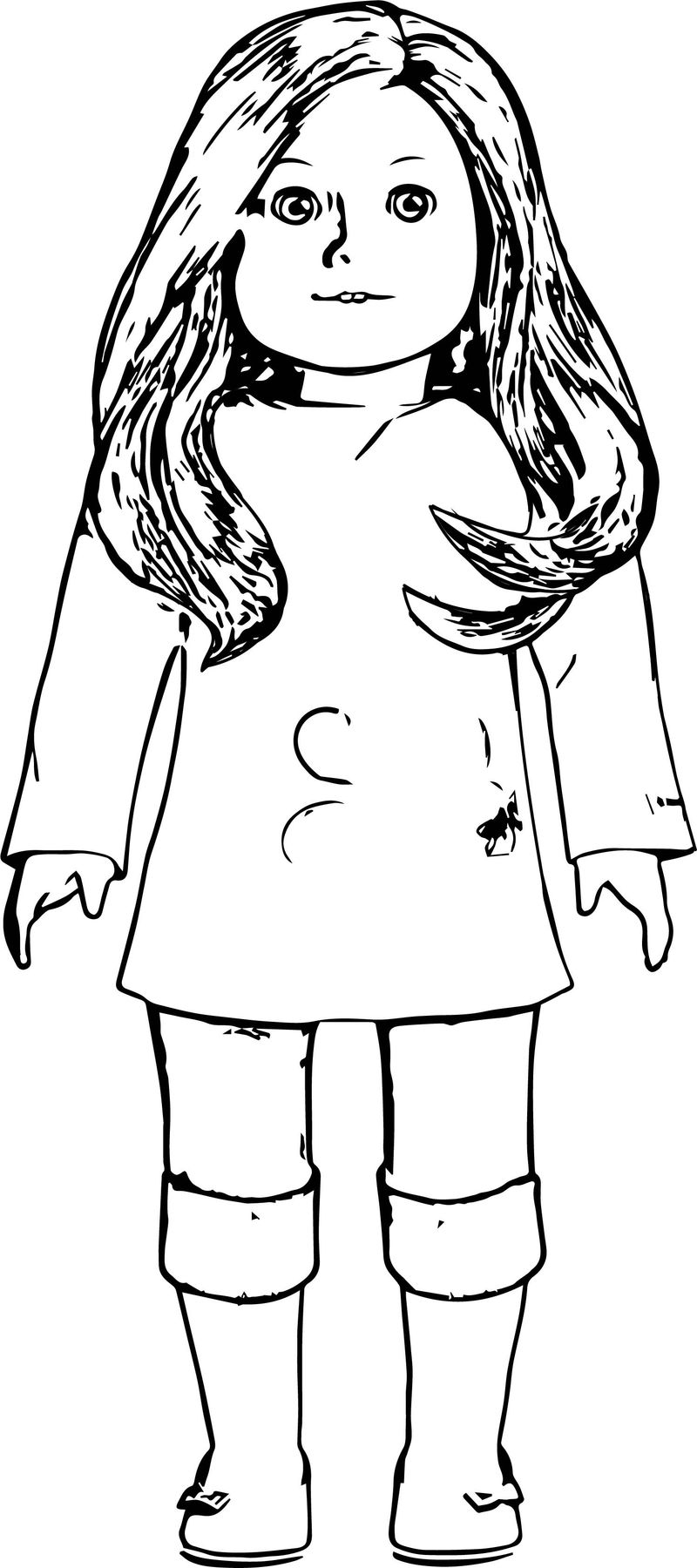 American Girl Coloring Page