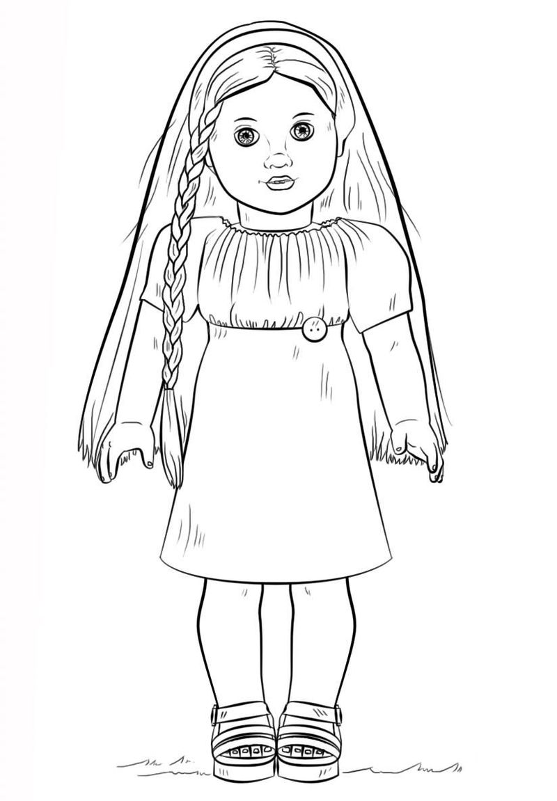American Girl Coloring Pages 1