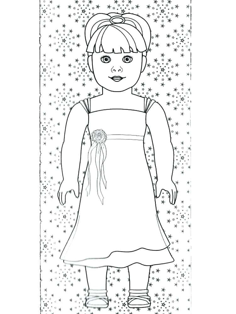American Girl Doll Coloring Page Printables