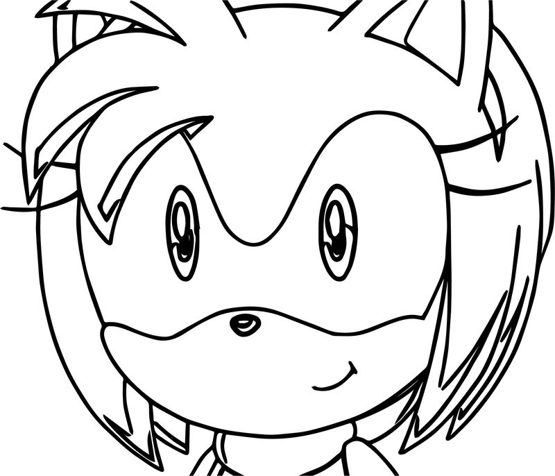Amy Rose Face Coloring Page