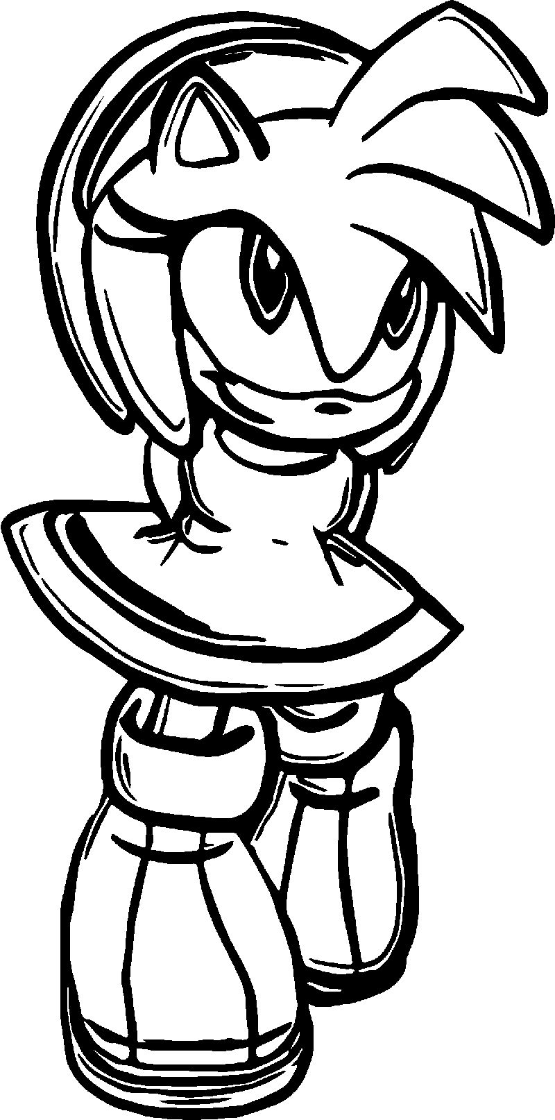 Amy Rose Smile Coloring Pages