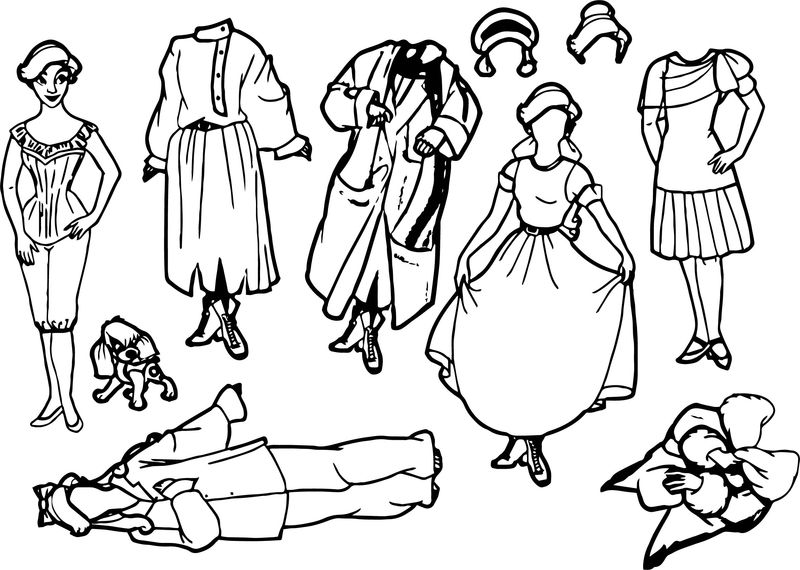 Anastasia Paper Dolls Coloring Page
