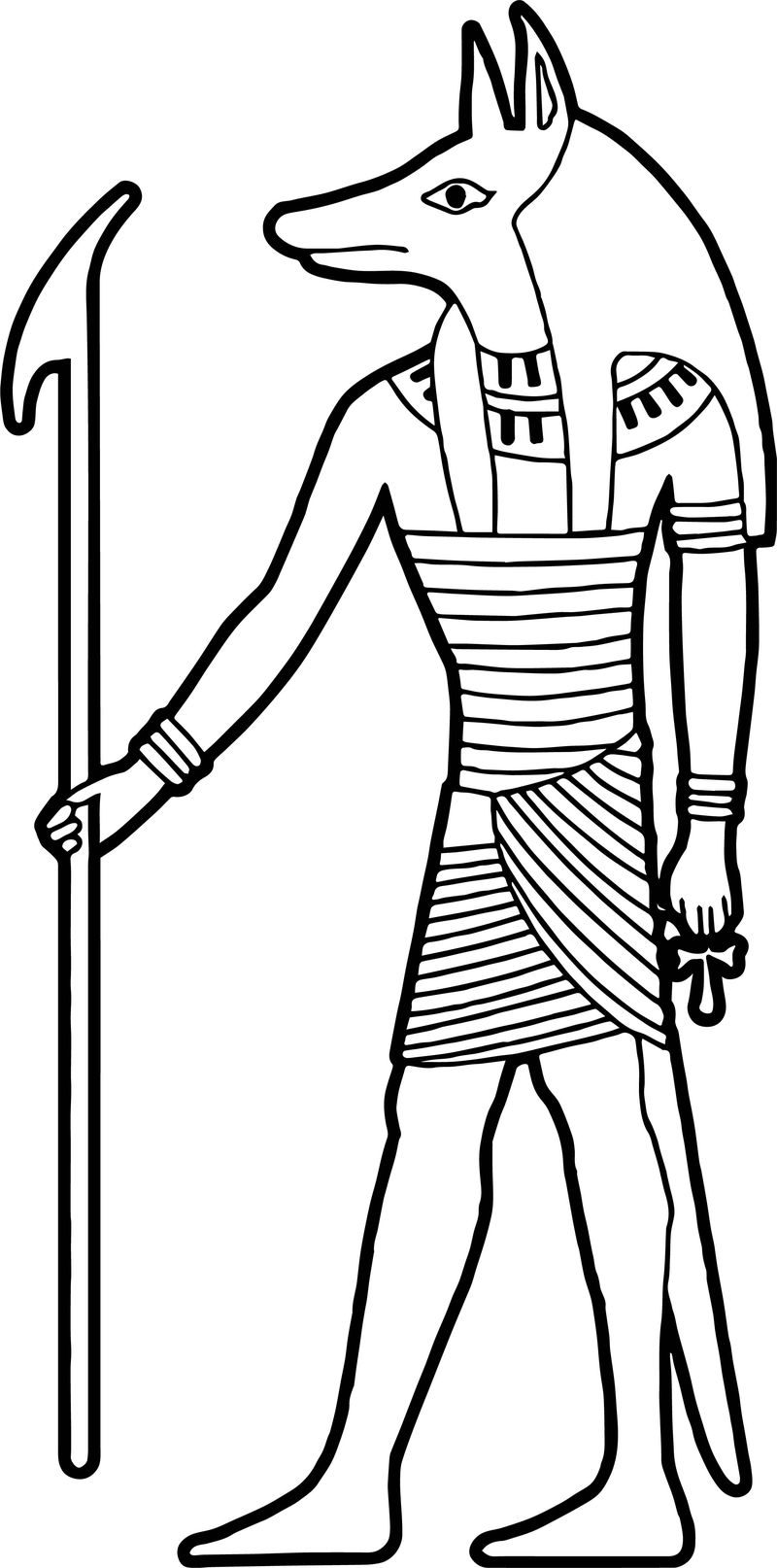 Ancient Egypt Animal Face Statue Coloring Page