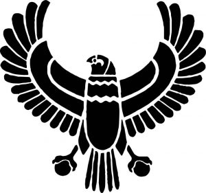 Ancient egypt bird icon coloring page