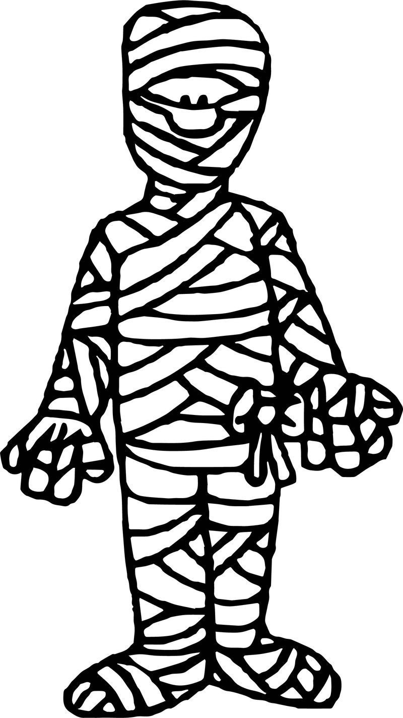 Ancient Egypt Mummy Coloring Page