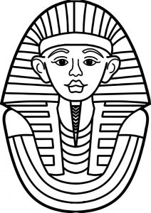 Ancient egyptian face coloring page