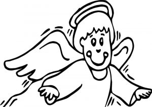 Angel all saint day coloring page