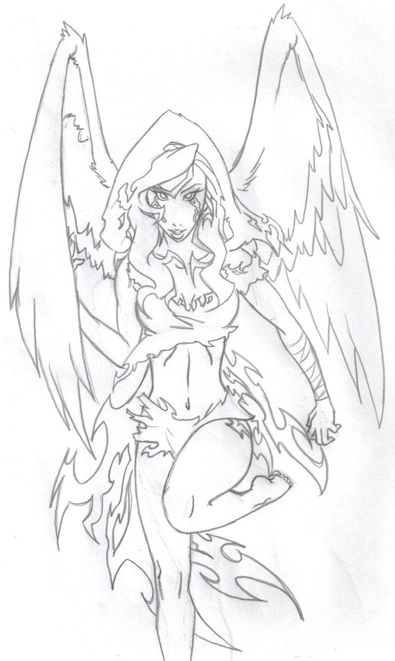 Angel Coloring Pages For Girls