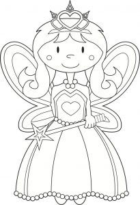 Angel princess coloring pages 001