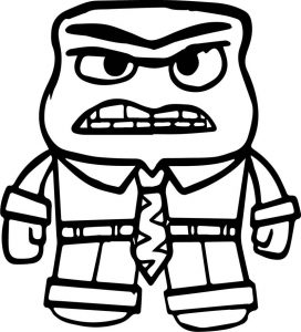 Anger character front view coloring page