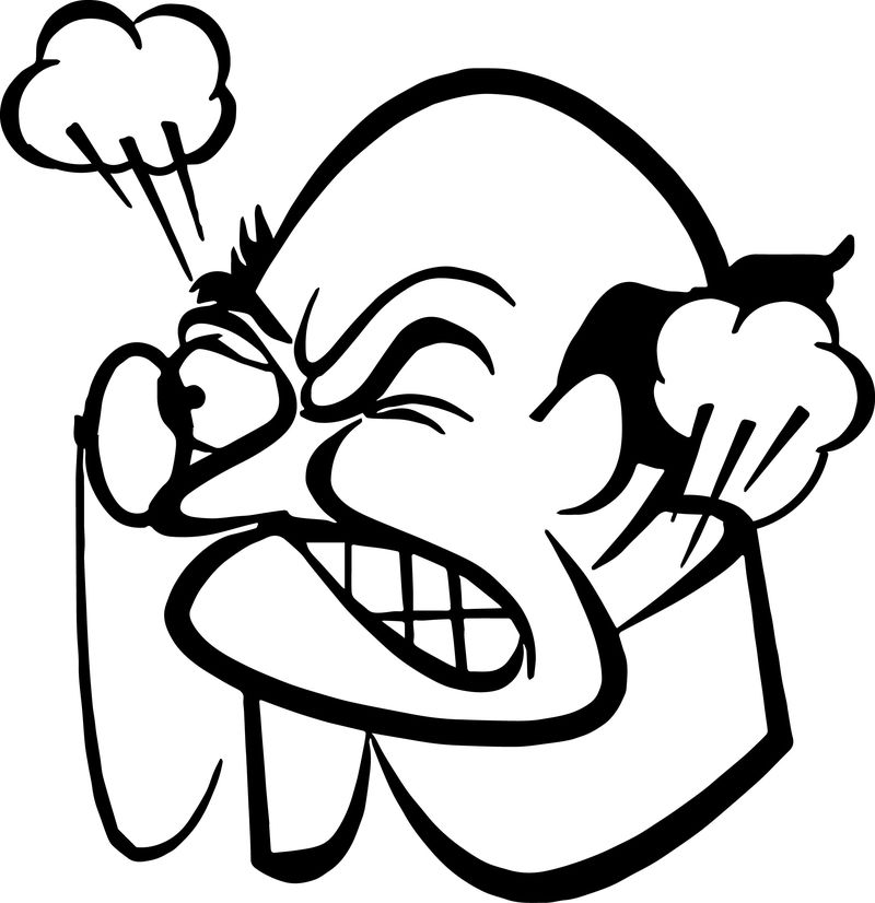 Angry Anger Management Glass Man Coloring Page