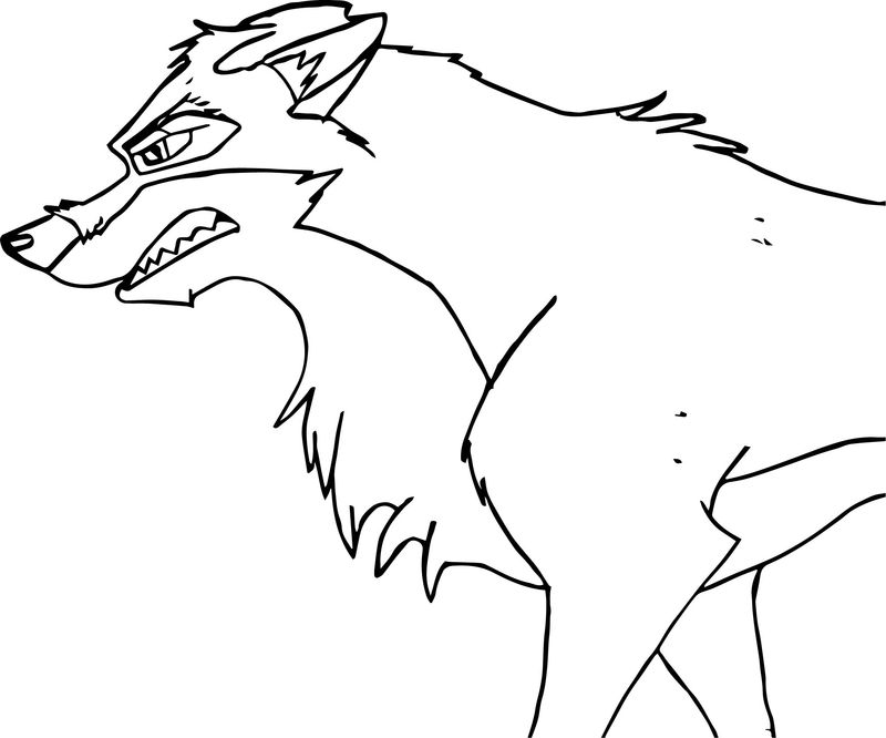 Angry Balto Coloring Page