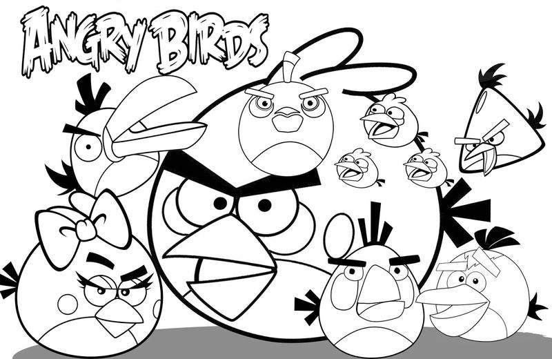 Angry Bird Coloring Pages To Print